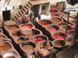 Dye vats leather Tannery in Morroco: Sharon Levy